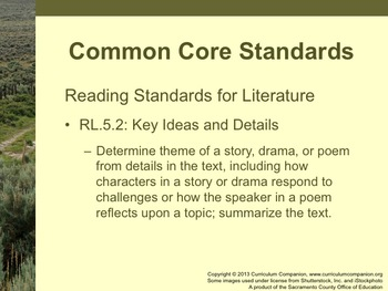 Houghton Mifflin Reading Gr 5 Theme 5 One Land Many Trails Common Core Standards