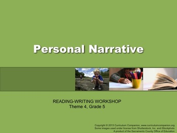 Houghton Mifflin Reading Gr 5 Writing: Personal Narrative