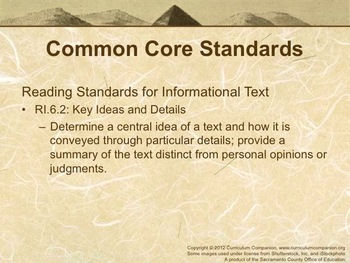 Houghton Mifflin Reading Gr 6 Discovering Ancient Cultures Common Core Standards
