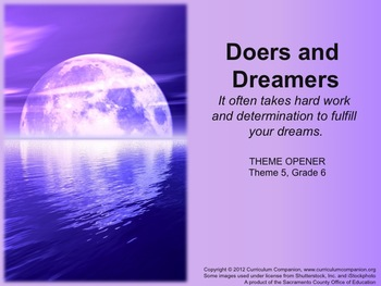 Houghton Mifflin Reading Gr 6 Doers and Dreamers Common Core Standards
