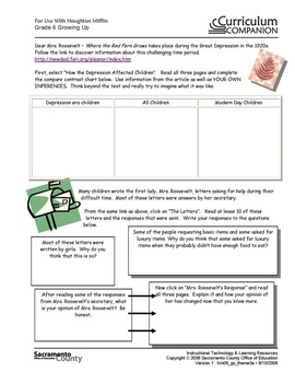 Houghton Mifflin Reading Gr 6 Theme 3 Growing Up Common Core Standards