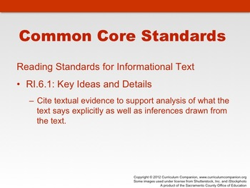 Houghton Mifflin Reading Gr 6 Writing: A Story Common Core Standards