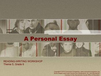 Houghton Mifflin Reading Gr 6 Writing: Personal Essay Comm