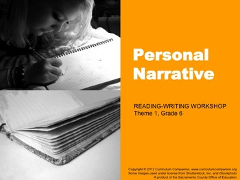 Houghton Mifflin Reading Gr 6 Writing: Personal Narrative Common Core Standards