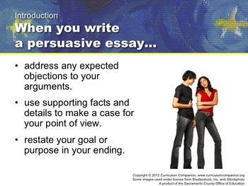 Houghton Mifflin Reading Gr 6 Writing: Persuasive Essay Common Core Standards