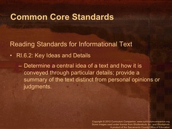 Houghton Mifflin Reading Gr 6 Writing: Research Report Common Core Standards