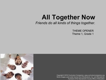 Houghton Mifflin Reading Grade 1 Theme 1 All Resources Common Core Standards