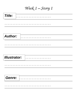 Houghton Mifflin Reading Grade 1 Theme 1 Skills Focus Portfolio 27 Pgs