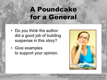 Houghton Mifflin Reading Grade 5 A Poundcake for a General Common Core Standards