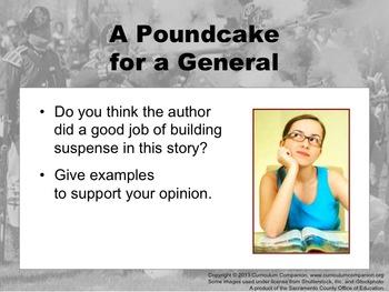 Houghton Mifflin Reading Grade 5 A Poundcake for a General Common Core Standards