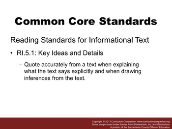 Houghton Mifflin Reading Grade 5 Flag Facts Common Core Standards