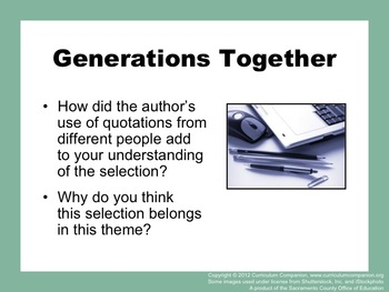Houghton Mifflin Reading Grade 5 Generations Together Common Core Standards