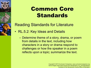 Houghton Mifflin Reading Grade 5 Giving Wildlife ... Common Core Standards
