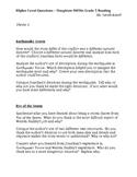 Houghton Mifflin Reading Grade 5 Higher Level Questions Theme 1