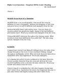 Houghton Mifflin Reading Grade 5 Higher Level Questions Theme 2