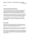 Houghton Mifflin Reading Grade 5 Higher Level Questions Theme 3