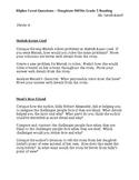 Houghton Mifflin Reading Grade 5 Higher Level Questions Theme 4