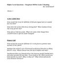 Houghton Mifflin Reading Grade 5 Higher Level Questions Theme 5