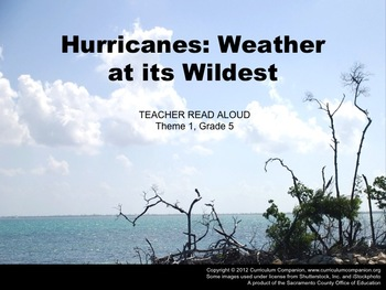 Houghton Mifflin Reading Grade 5 Hurricanes Common Core Standards