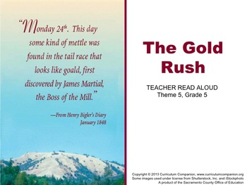 Houghton Mifflin Reading Grade 5 The Gold Rush Common Core Standards