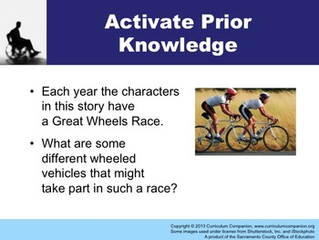 Houghton Mifflin Reading Grade 5 The Great Wheels Race Common Core Standards