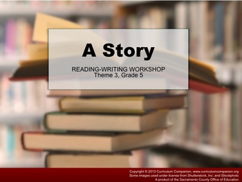 Houghton Mifflin Reading Grade 5 Writing: A Story Common Core Standards