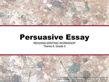 Houghton Mifflin Reading Grade 5 Writing: Persuasive Essay