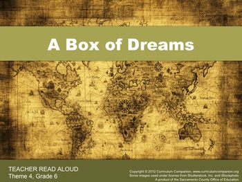 Houghton Mifflin Reading, Grade 6, A Box of Dreams Common Core Standards