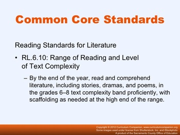 Houghton Mifflin Reading, Grade 6, Coral Reef Adventure Common Core Standards