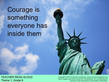 Houghton Mifflin Reading, Grade 6 Courage is Something ... Common Core Standards