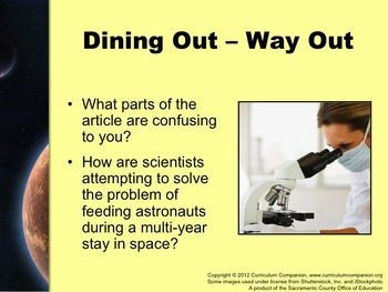 Houghton Mifflin Reading, Grade 6, Dining Out - Way Out Common Core Standards