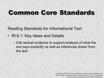 Houghton Mifflin Reading, Grade 6, Making a Mountain ... Common Core Standards