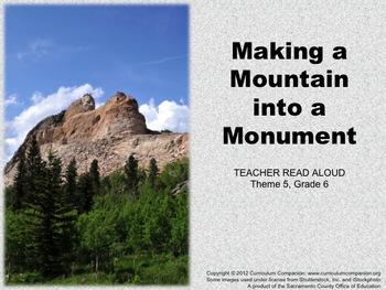 Houghton Mifflin Reading, Grade 6, Making a Mountain ... C