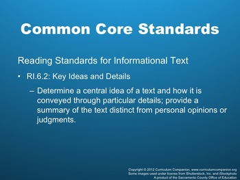 Houghton Mifflin Reading, Grade 6, Mystery Caves Common Core Standards