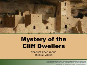 Houghton Mifflin Reading Grade 6 Mystery of Cliff Dwellers