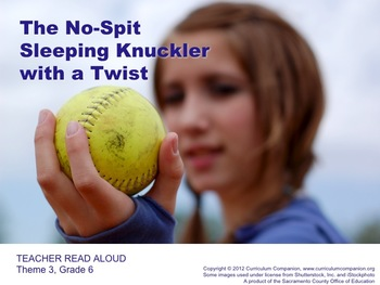 Houghton Mifflin Reading Grade 6 No-Spit Sleeping Knuckler Common Core Standards