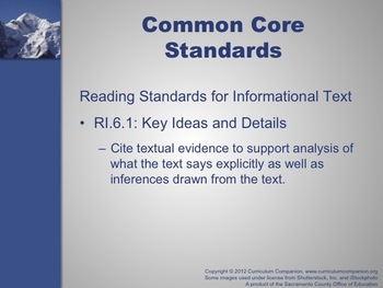 Houghton Mifflin Reading, Grade 6, Peak Experience Common Core Standards