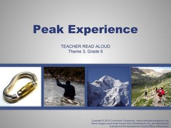 Houghton Mifflin Reading, Grade 6, Peak Experience Common