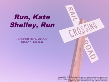 Houghton Mifflin Reading, Grade 6, Run, Kate Shelley, Run Common Core Standards