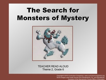 Houghton Mifflin Reading, Grade 6, Search for Monsters ... Common Core Standards