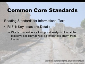 Houghton Mifflin Reading, Grade 6, The Day of Disaster Common Core Standards
