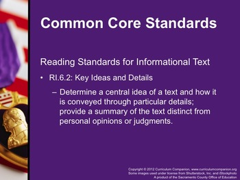 Houghton Mifflin Reading, Grade 6, Theme 1: Courage Common Core Standards