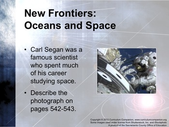 Houghton Mifflin Reading, Grade 6 Theme 6: New Frontiers: Oceans and Space