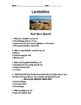 Houghton Mifflin Reading - Landslides Assessment