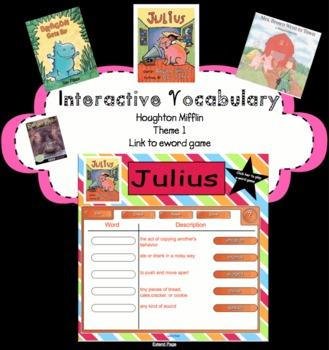 Houghton Mifflin Second Grade Reading Theme 1 Interactive Vocabulary