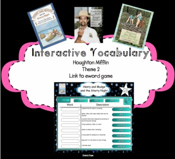 Houghton Mifflin Second Grade Reading Theme 2 Interactive Vocabulary