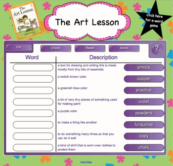Houghton Mifflin Second Grade Reading Theme 6 Interactive Vocabulary