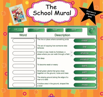 Houghton Mifflin Second Grade Reading Theme 6 Interactive Vocabulary