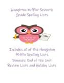 Houghton Mifflin Seventh Grade Spelling Lists