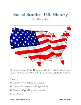 Houghton Mifflin Social Studies: U.S. History Complete Bundle, All 14 Chapters